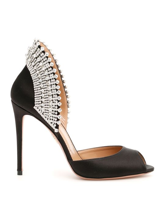 Aquazzura Concorde Crystal Pumps