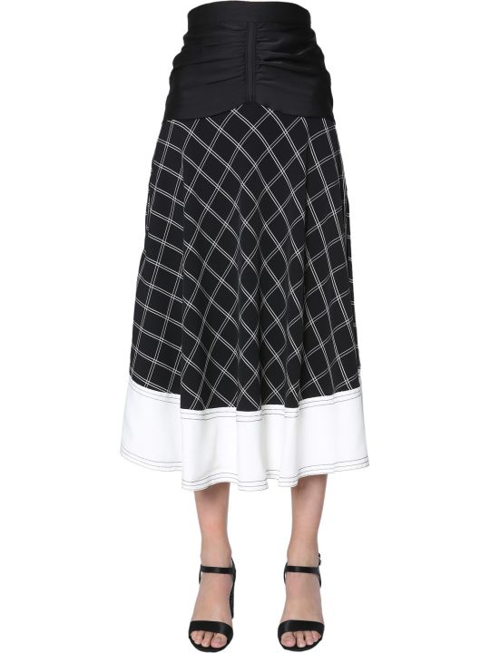 self-portrait Midi Skirt