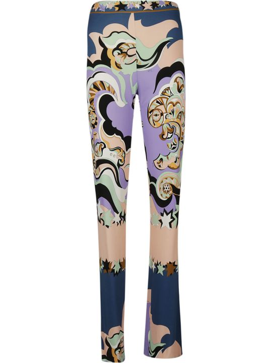 Emilio Pucci Abstract Print Bootcut Trousers