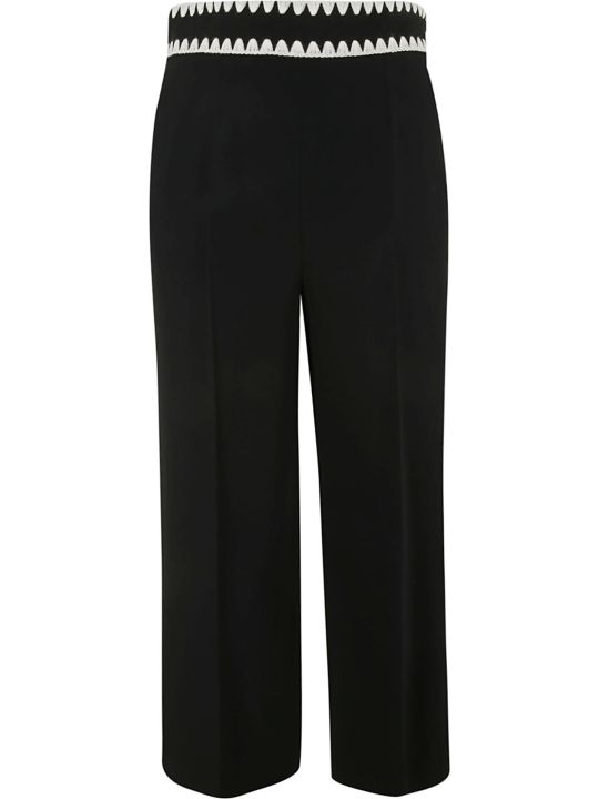 RED Valentino Embroidered Waistband Trousers