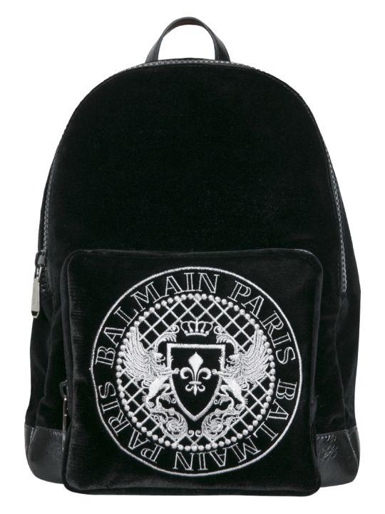 Balmain Velvet Backpack