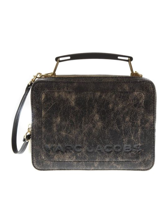 Marc Jacobs The Box Distressed Leather Shoulder Bag