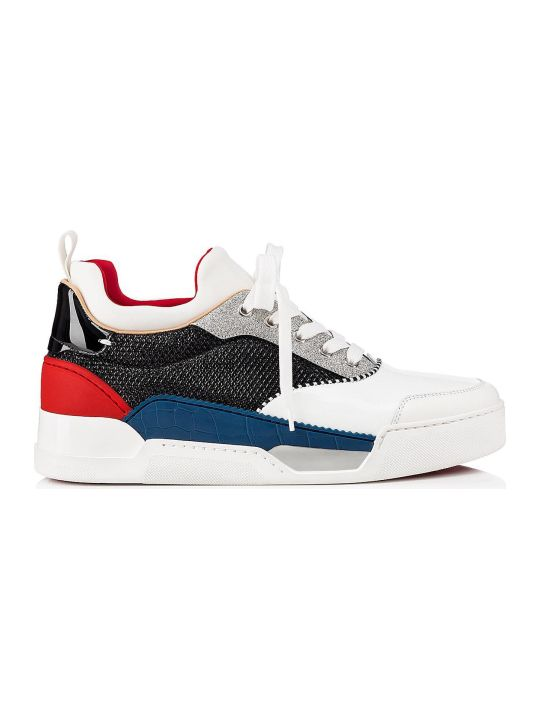 Christian Louboutin Aurelien Calf/glitter Diams Sneakers