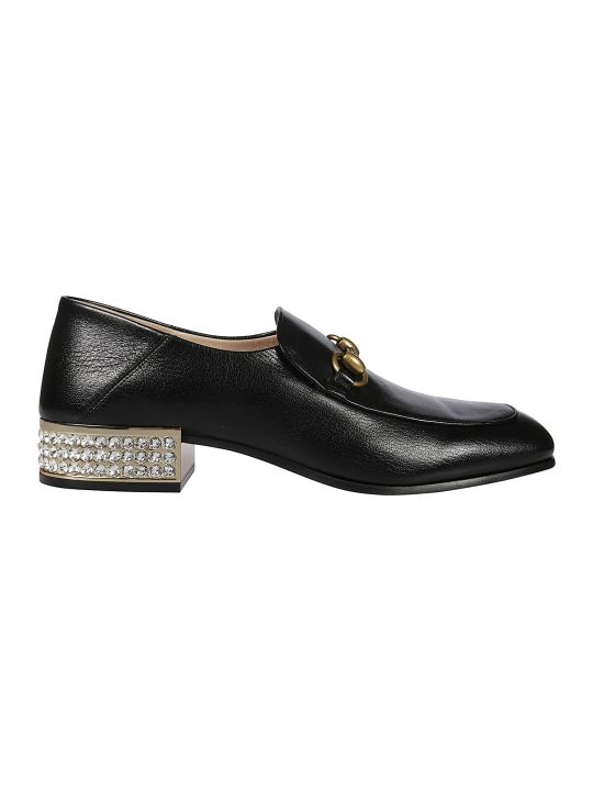 Gucci Crystal Embellished Loafers