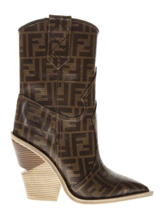 Fendi Fendi Geometric Cut Out Boots
