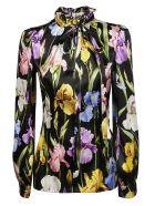 Dolce & Gabbana Floral Print Blouse - Hnsiris Nero