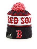 Marcelo Burlon Red Sox Pom Pon Hat in Red Multi|Blu