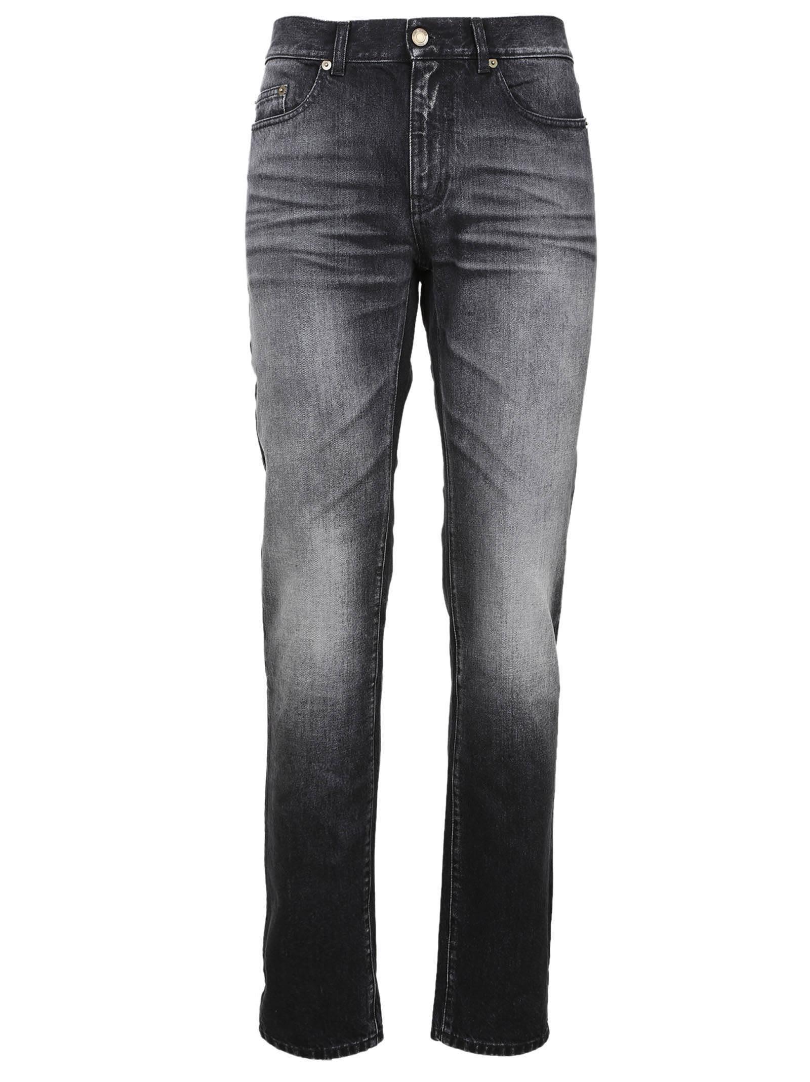 Saint Laurent Faded Slim-fit Jeans