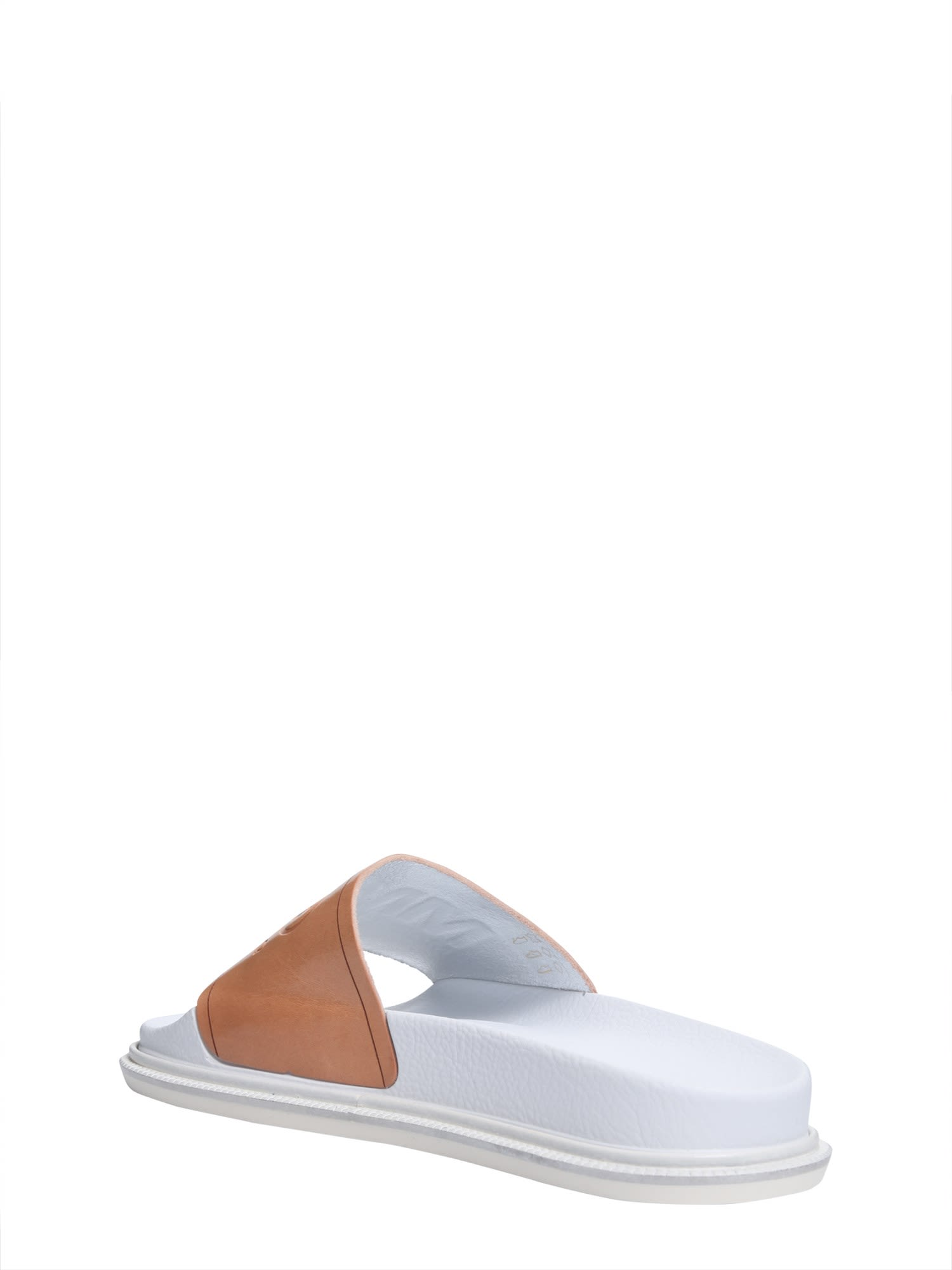 MM6 MAISON MARGIELA Slide sandals with logo gHn63Fk