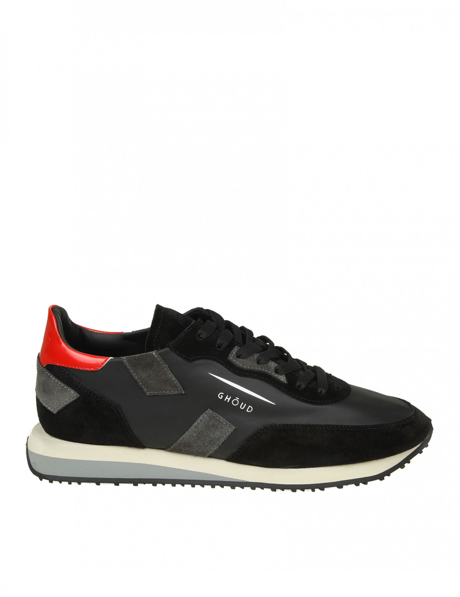 RUSH GHOUD SNEAKERS IN BLACK SUEDE AND LEATHER