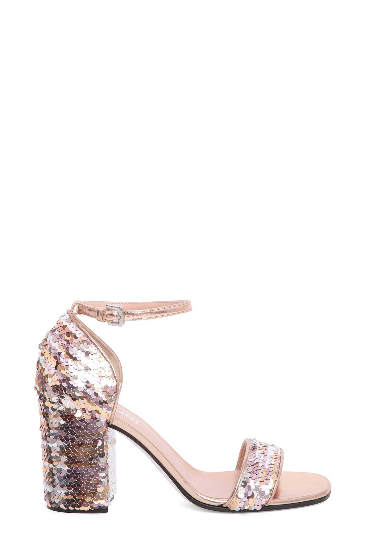 Pollini Sequined sandals A8Q8NDSV
