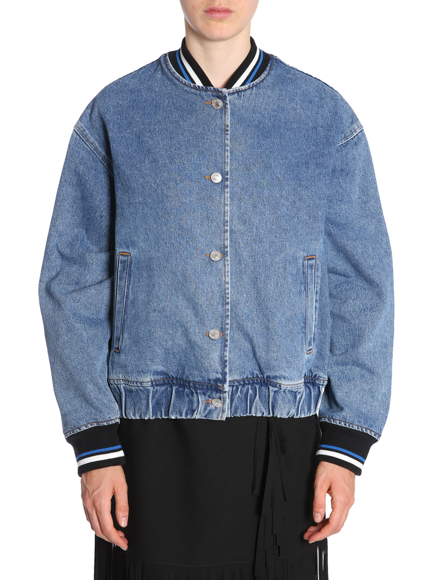 DENIM BOMBER JACKET