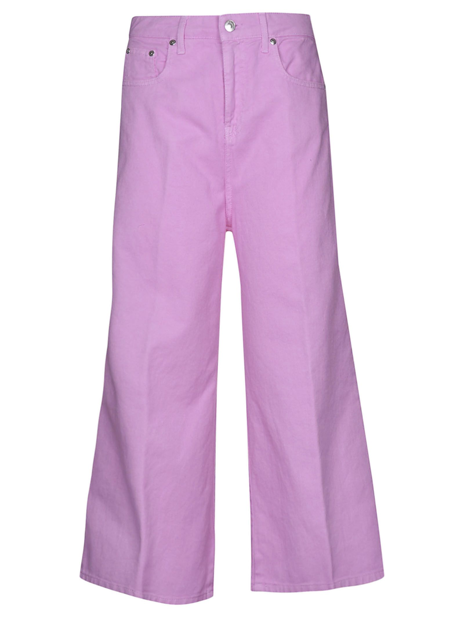 msgm -  Wide Leg Cropped Jeans