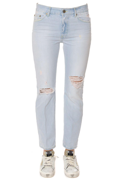 Dondup Destroyed Cotton Denim Jeans 7721884