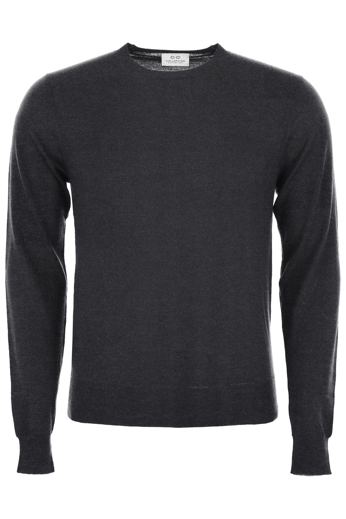 CC COLLECTION CORNELIANI Cashmere Pullover in Grigio Melange Scuro