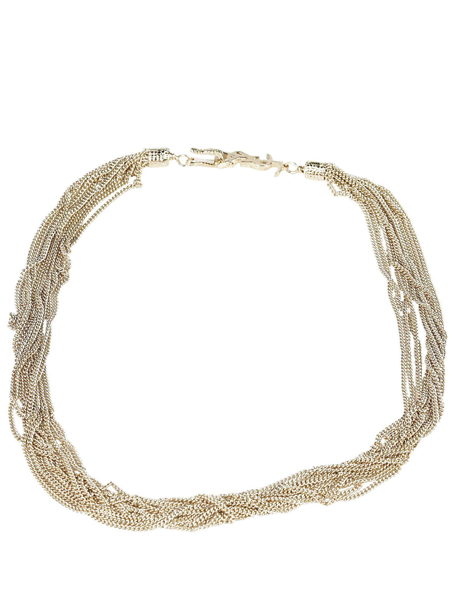 saint laurent necklace dore clair 10675609 italist. Black Bedroom Furniture Sets. Home Design Ideas