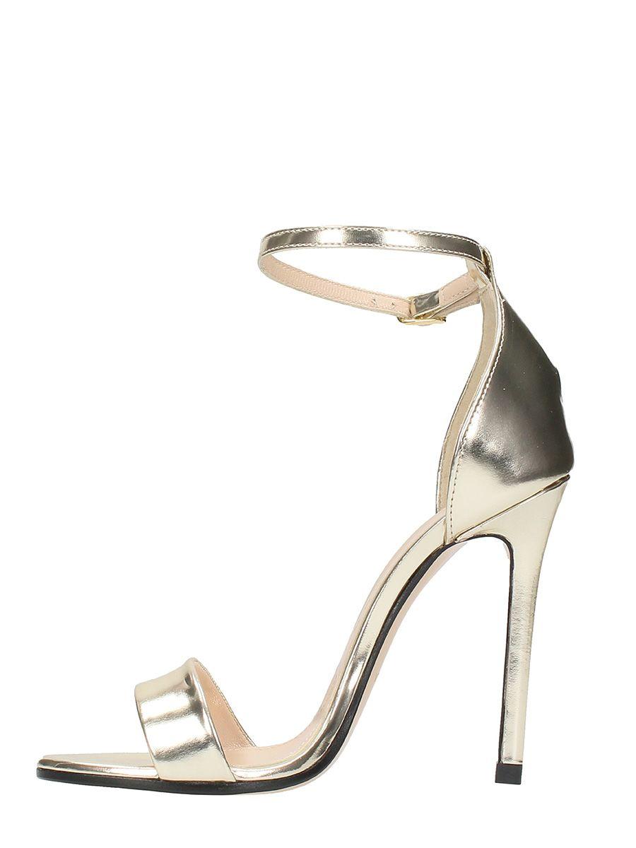 MARC ELLIS Metal Platimun Leather Sandals Clearance Visit New UnTiOaS