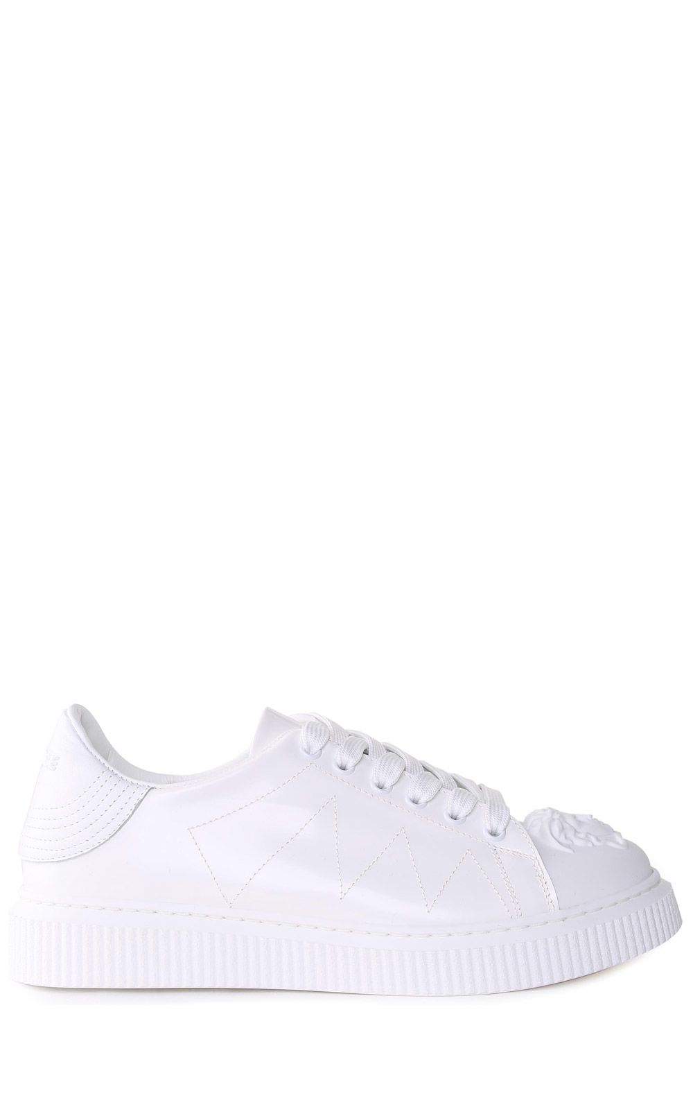 NYX BRUSHED-LEATHER SNEAKERS