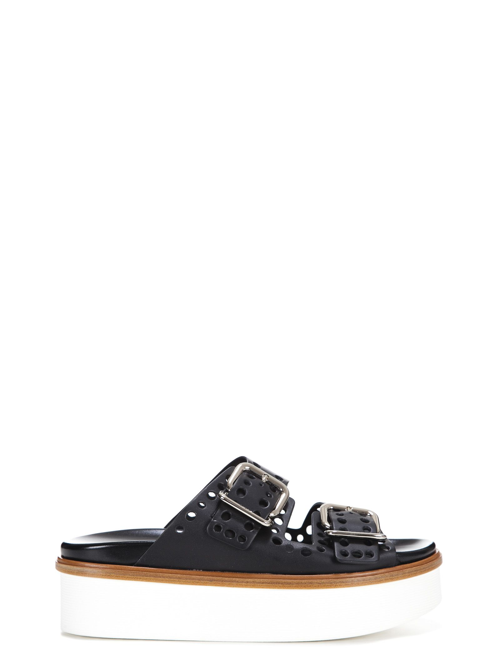 punched hole double strap platform sandals - Brown Tod's g3Fo5kQxV