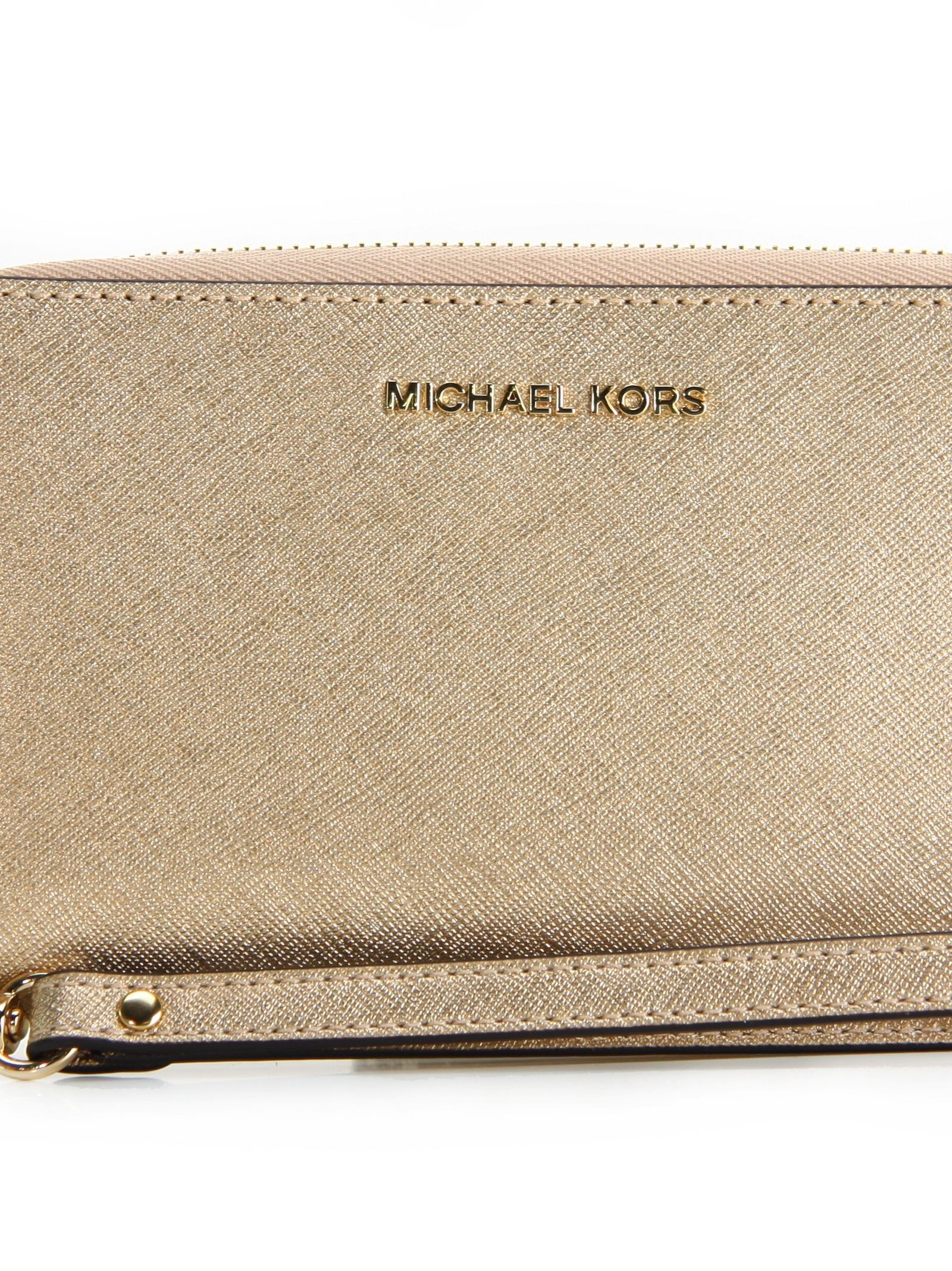 Jet Set Travel Large Flat Phone Case Michael Michael Kors Soft Gold 7873657