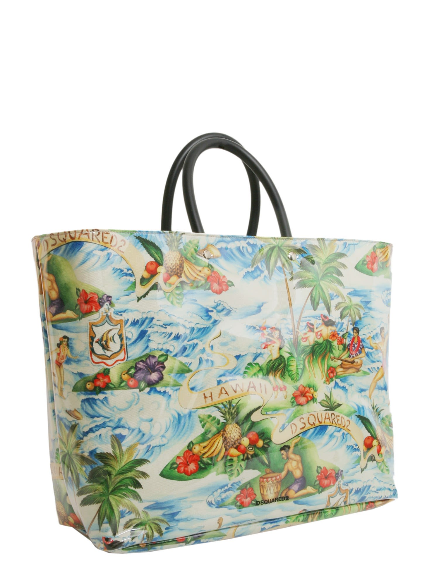 Hawaiian printed tote bag - Multicolour Dsquared2 w175H22q7d