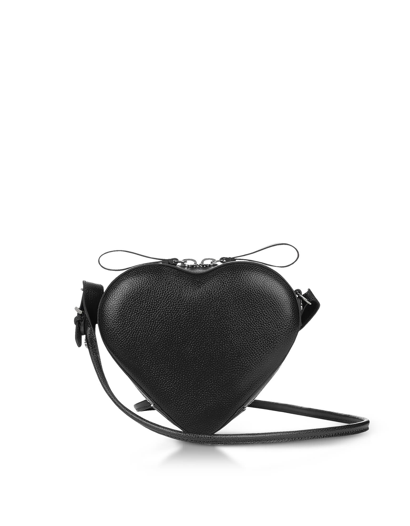 VIVIENNE WESTWOOD JOHANNA BLACK HEART CROSSBODY BAG  3bc810e7fd33d