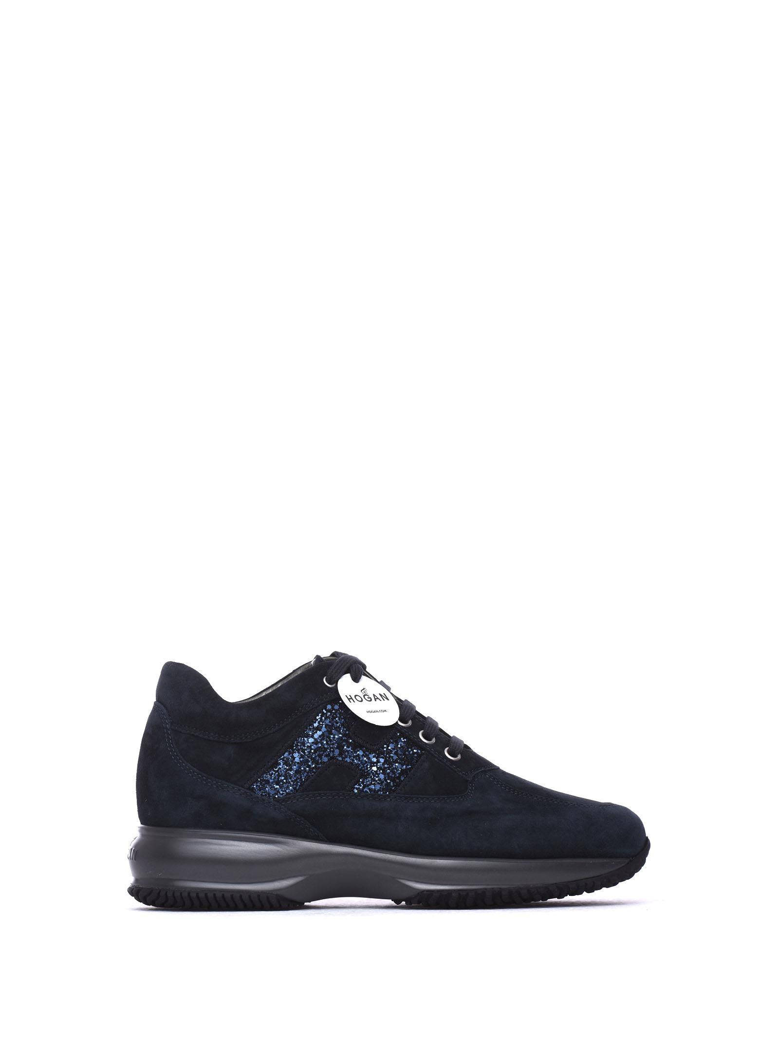 Sneakers Interactive Dark Blue And Glitter