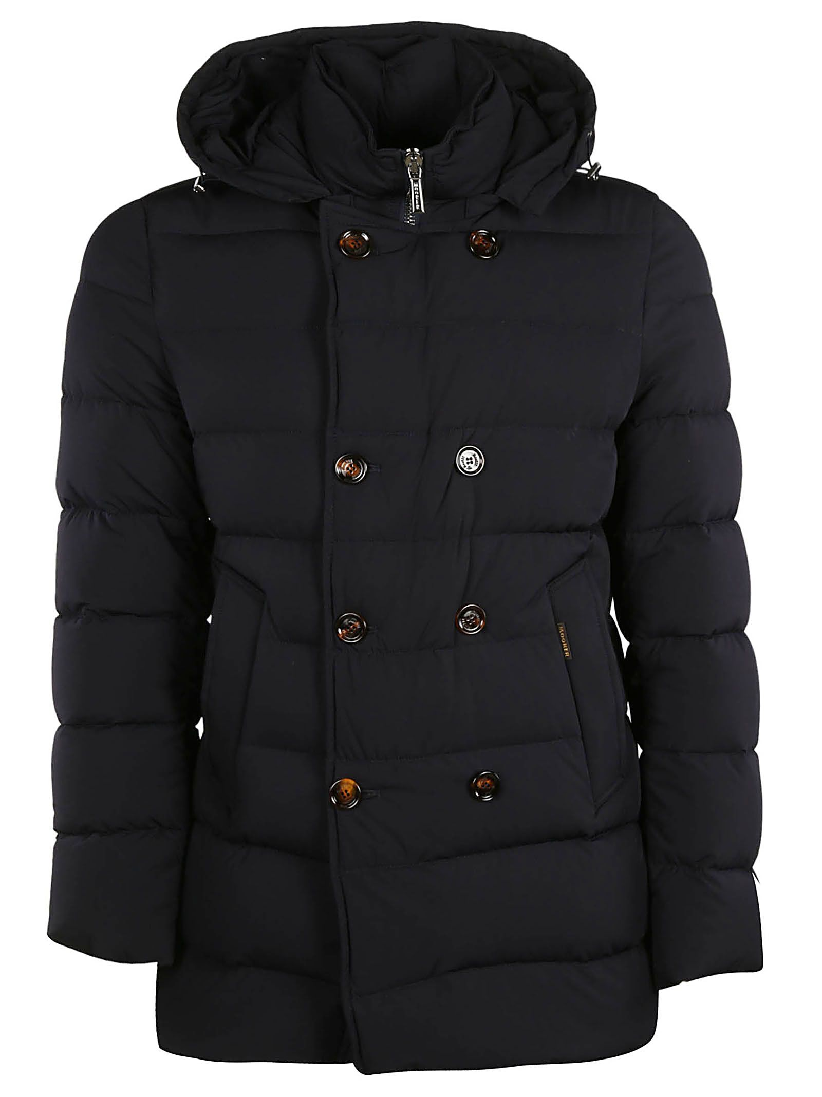 MOORER Double Breasted Padded Jacket in Dark Blue