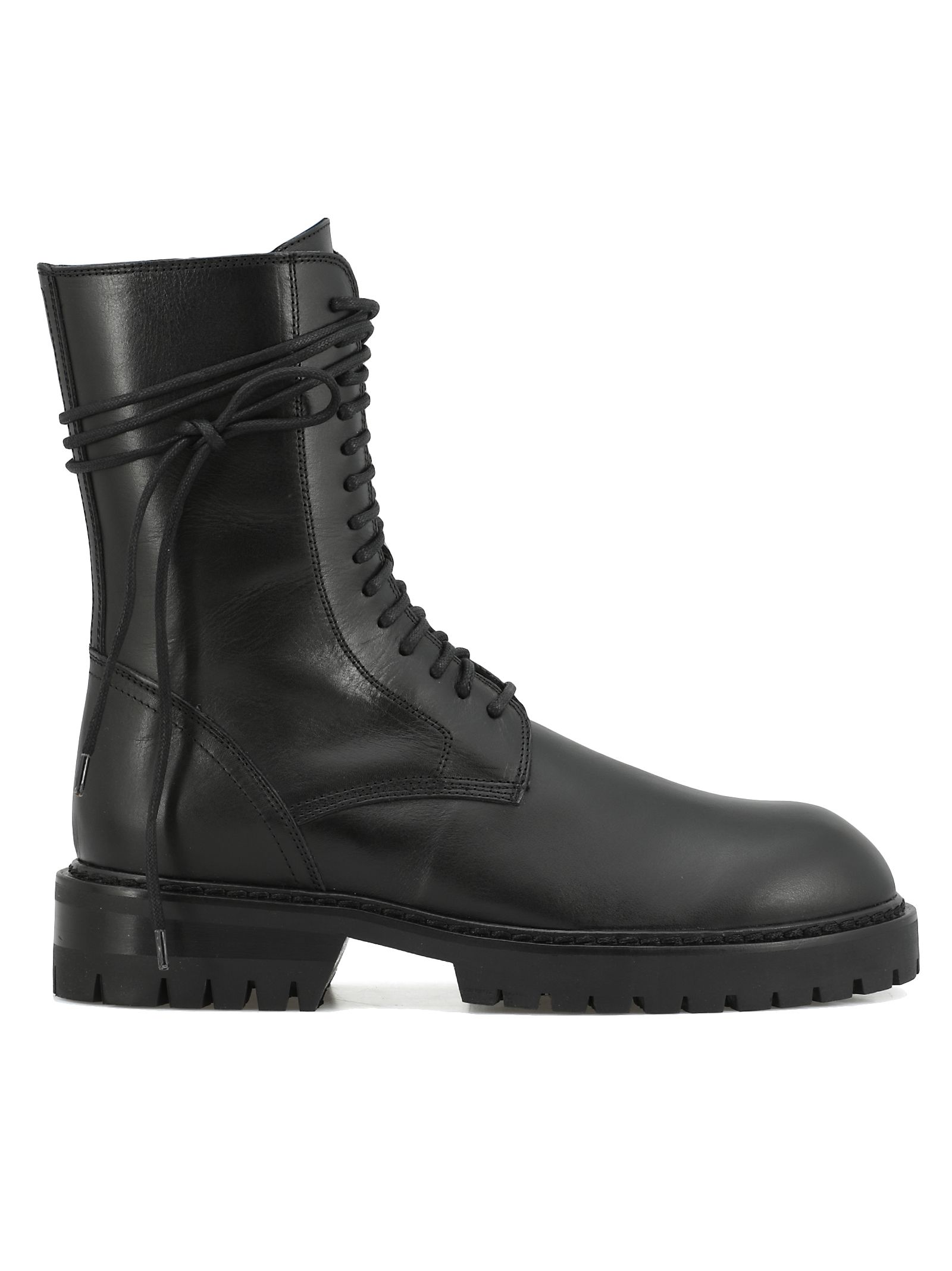 ann demeulemeester -  Leather Army Boot