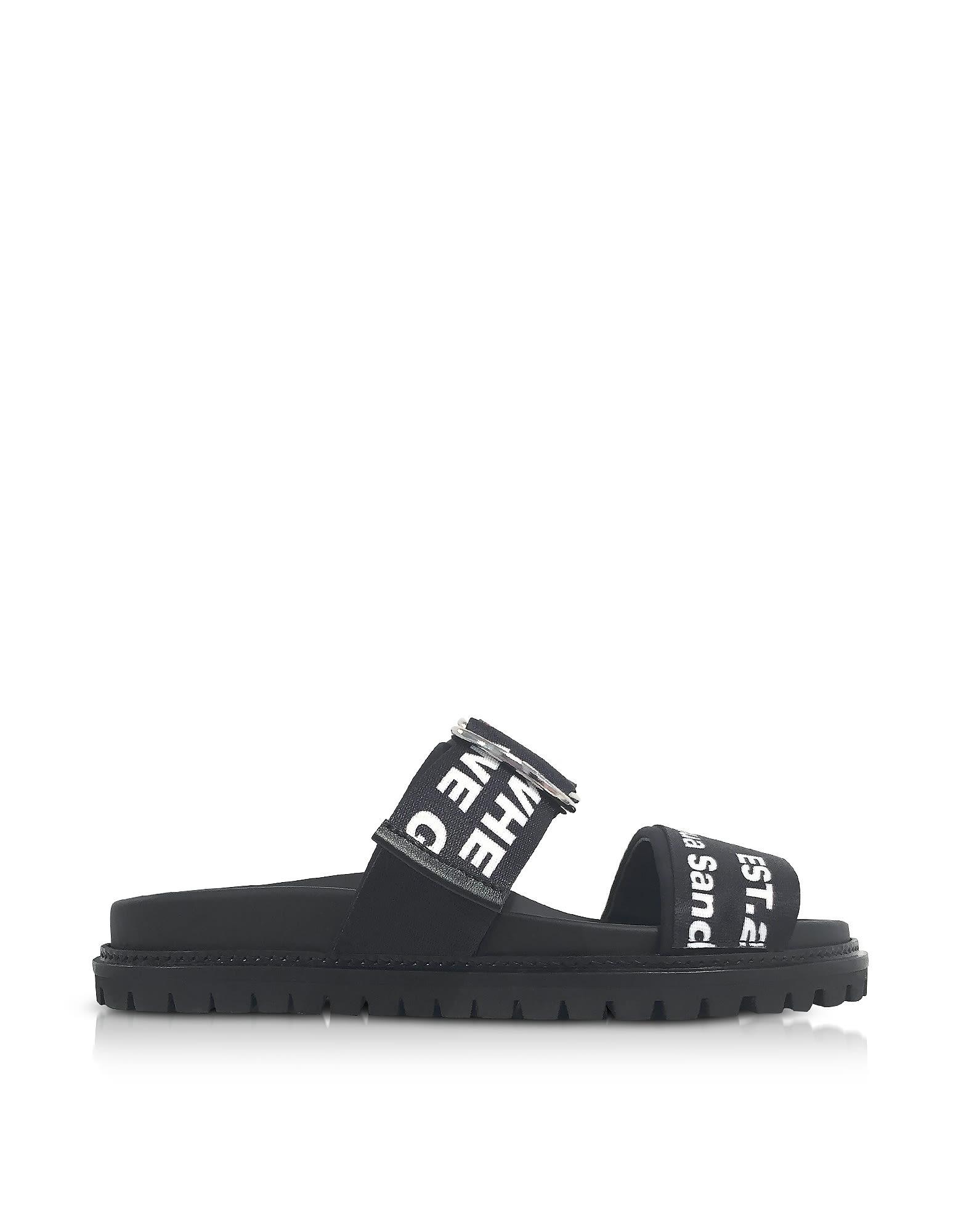 joshua sanders -  Black Go High Slide Sandals