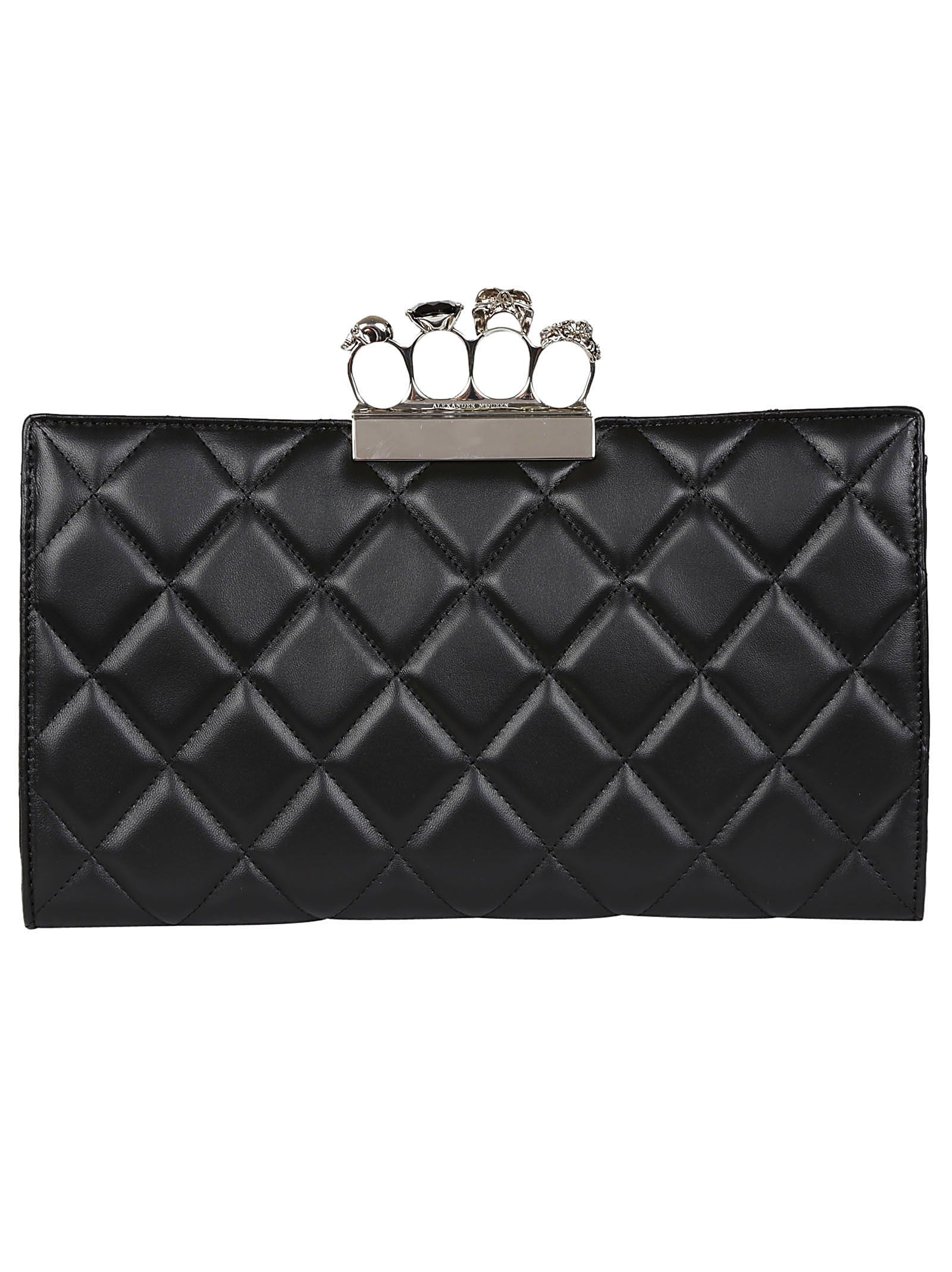 Four Mcqueen In Modesens Black Ring Flat Alexander Clutch 5PCnBwwq