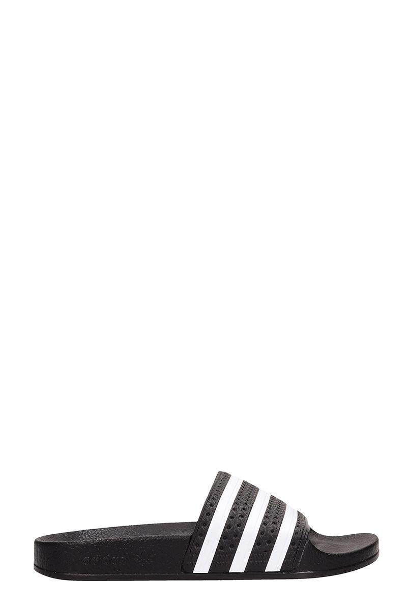 adidas -  Black Rubber Adilette Sandals