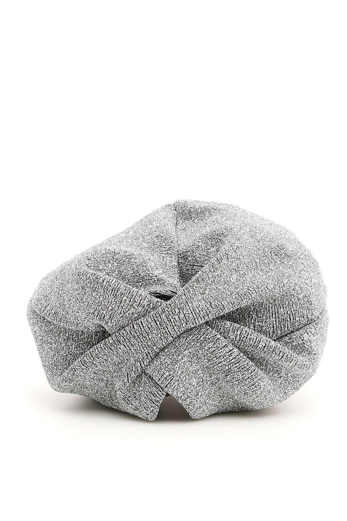 FLAPPER Lurex Lola Turban in Homebush Grey