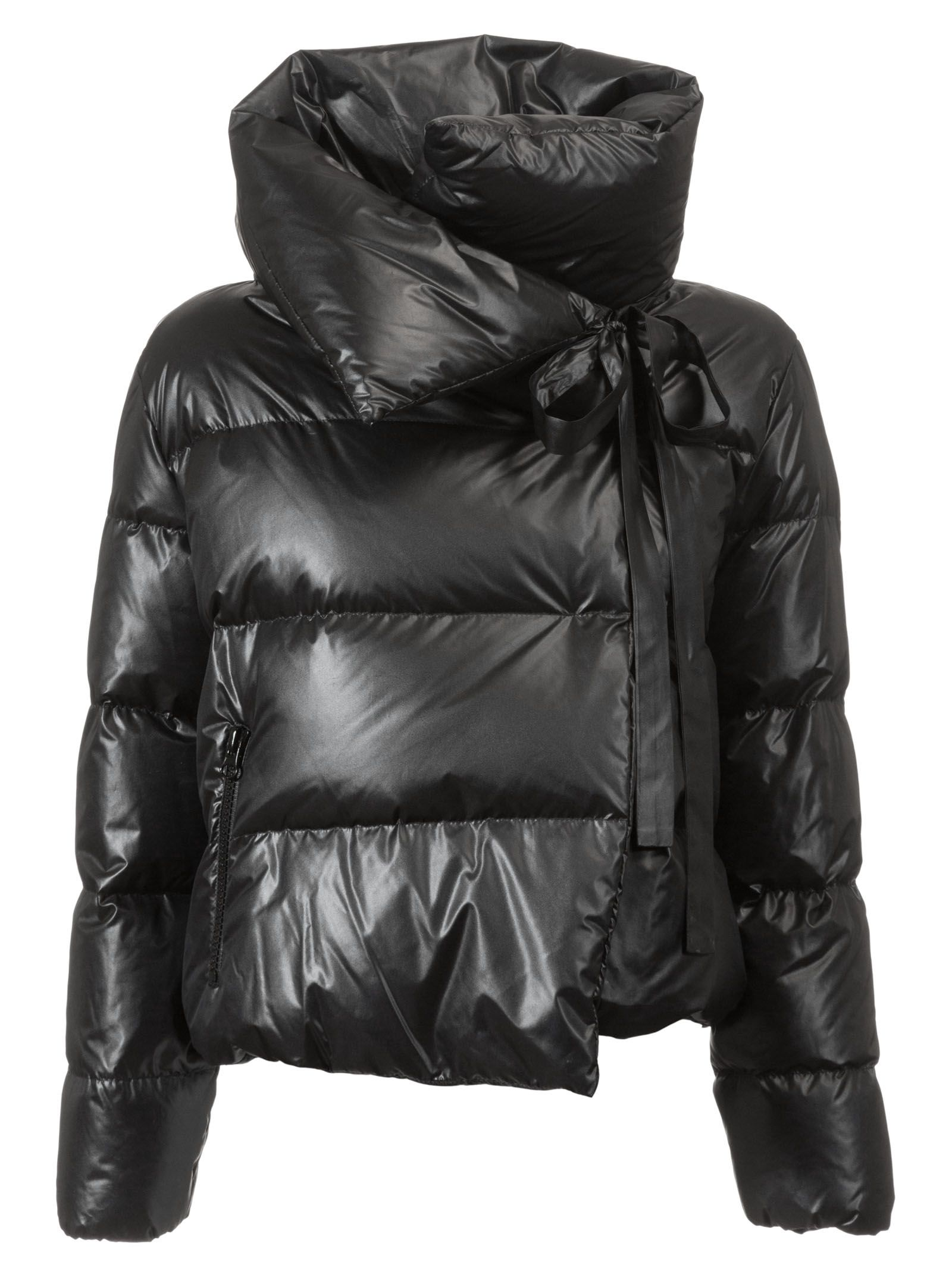 BACON CLOTHING Bacon Deluxe Cropped Padded Jacket in Black