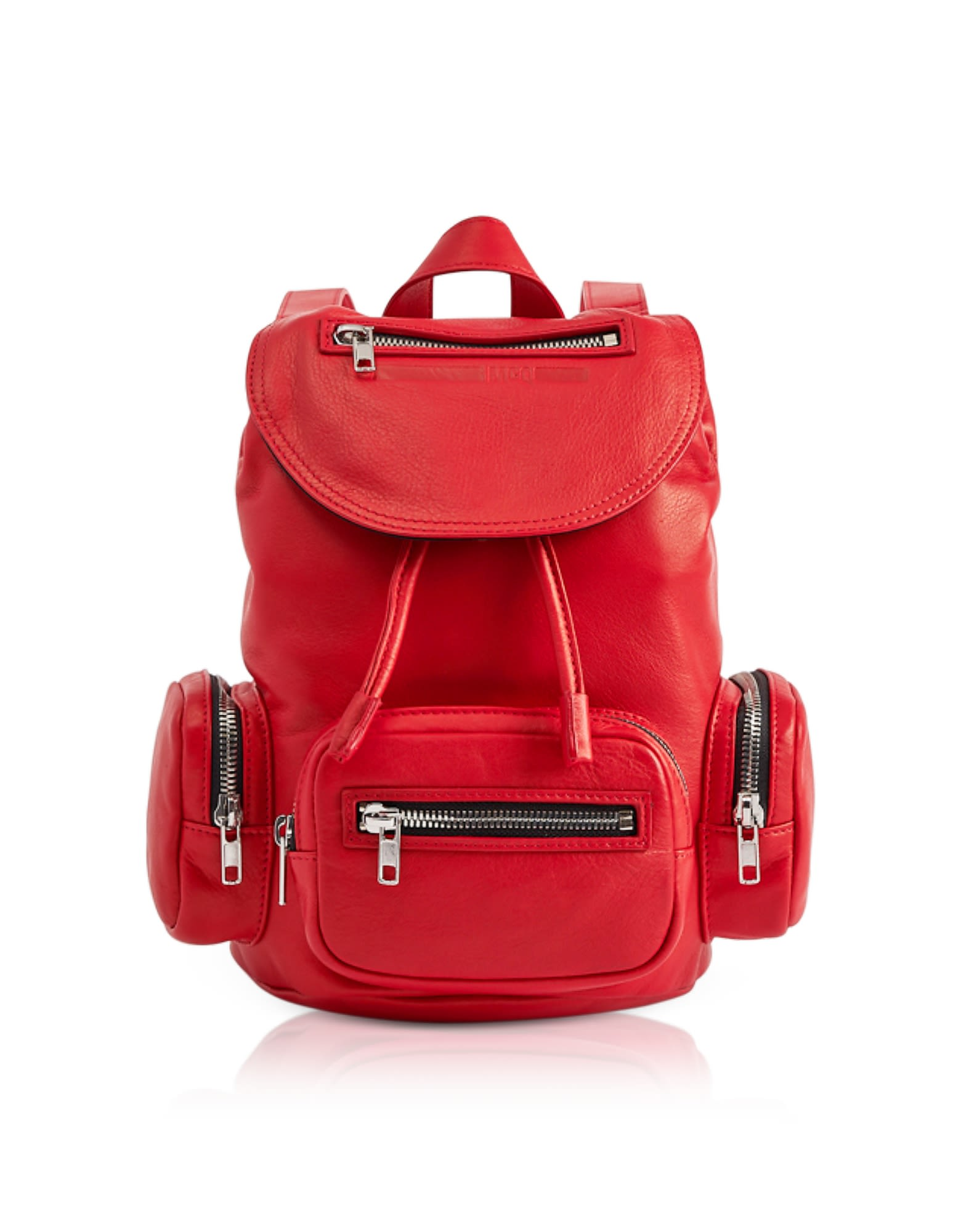 Mcq Alexander Mcqueen Loveless Riot Red Leather Mini Drawstring Convertible Backpack