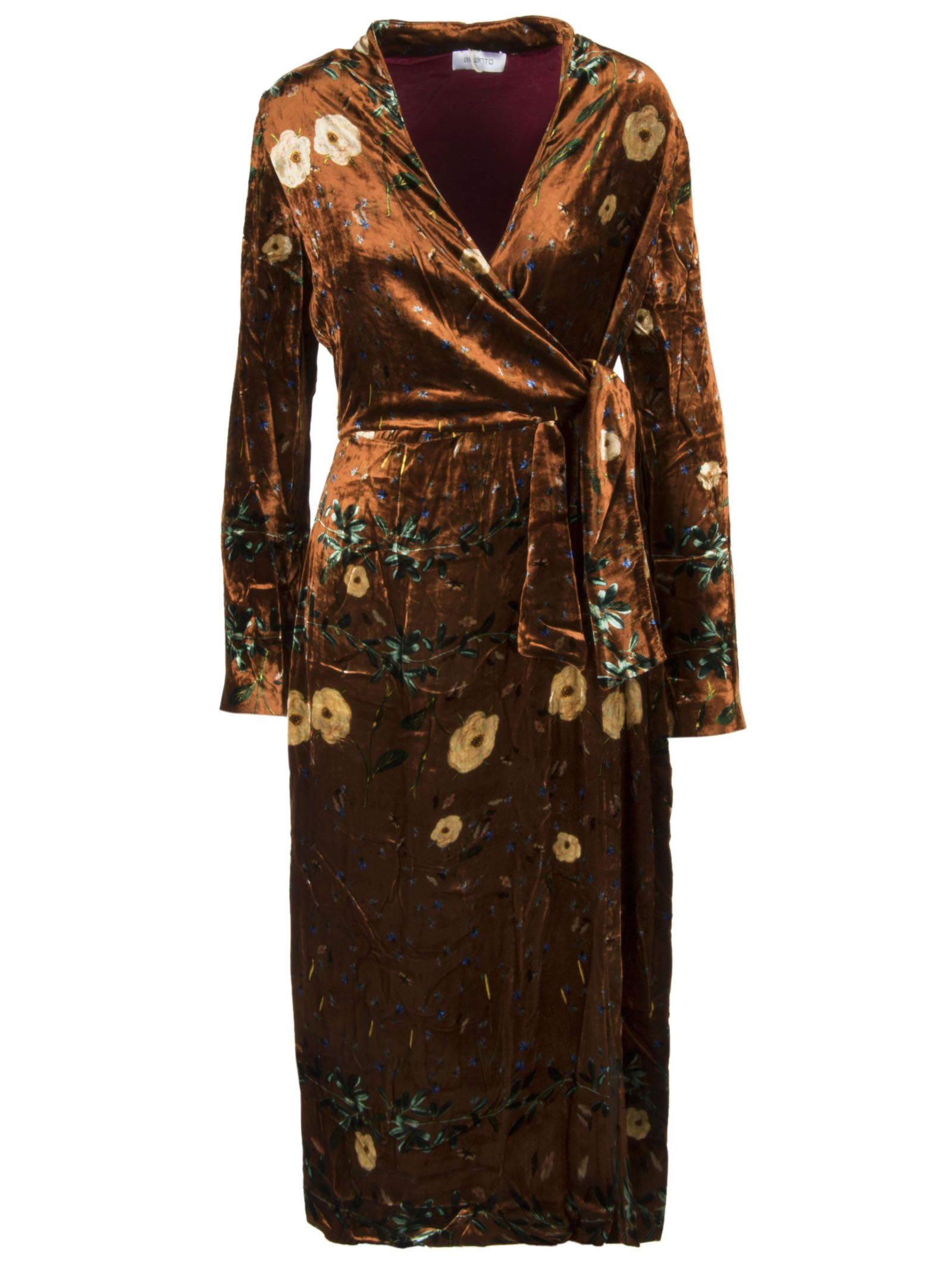 AILANTO Floral Dress in Brown