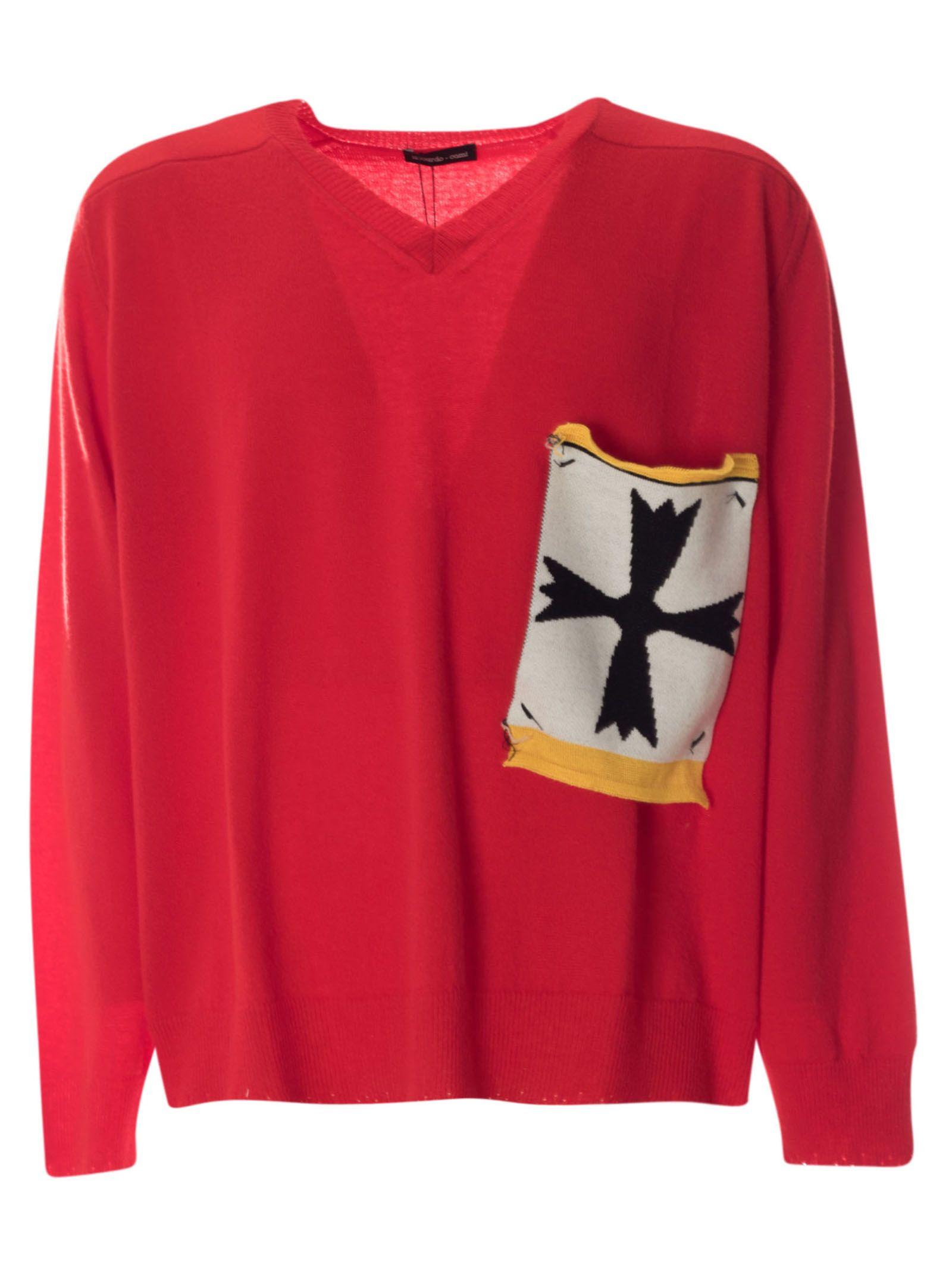 Riccardo Comi Sweaters PATCH POCKET SWEATER