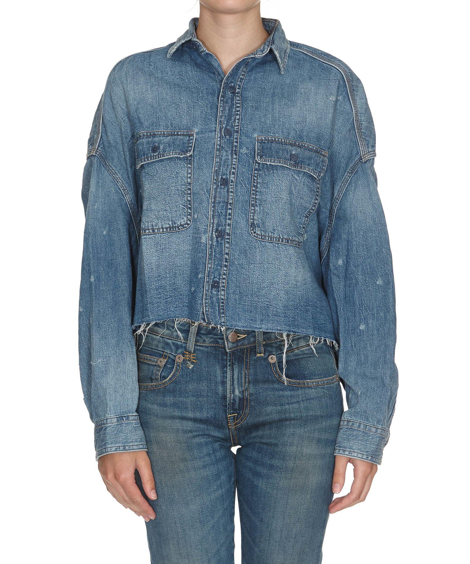 R13 Cropped Denim Shirt
