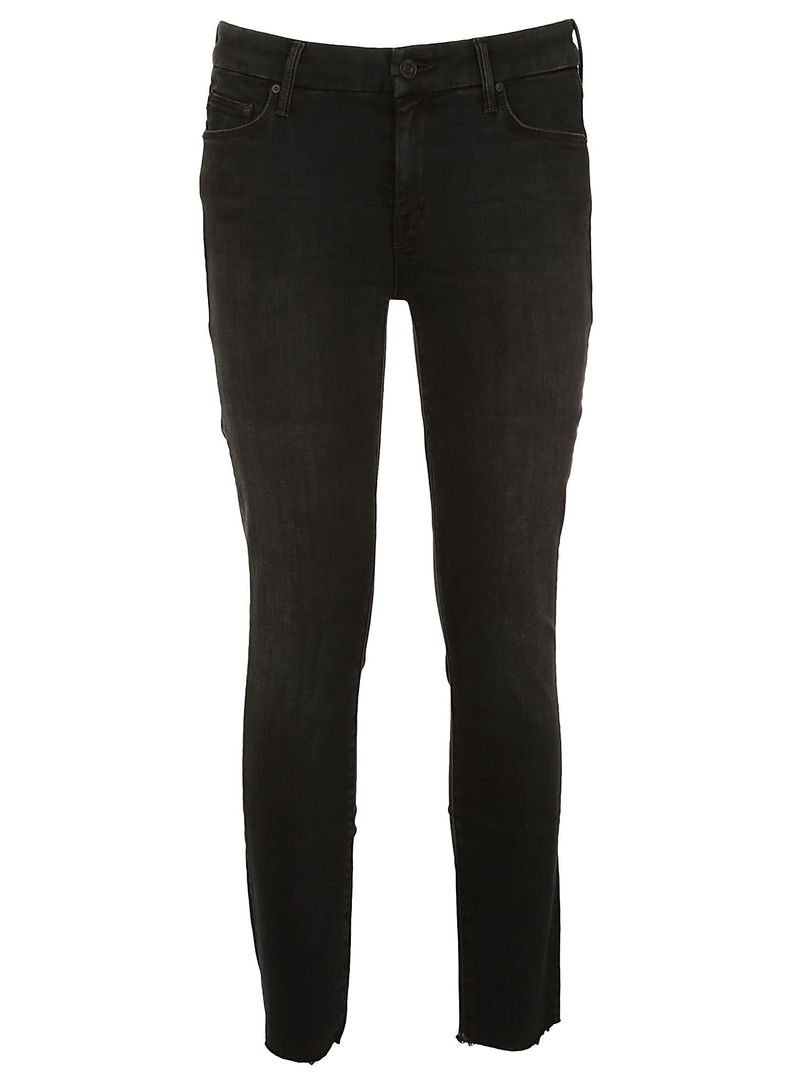 Mother Frayed Ankle Cropped Jeans