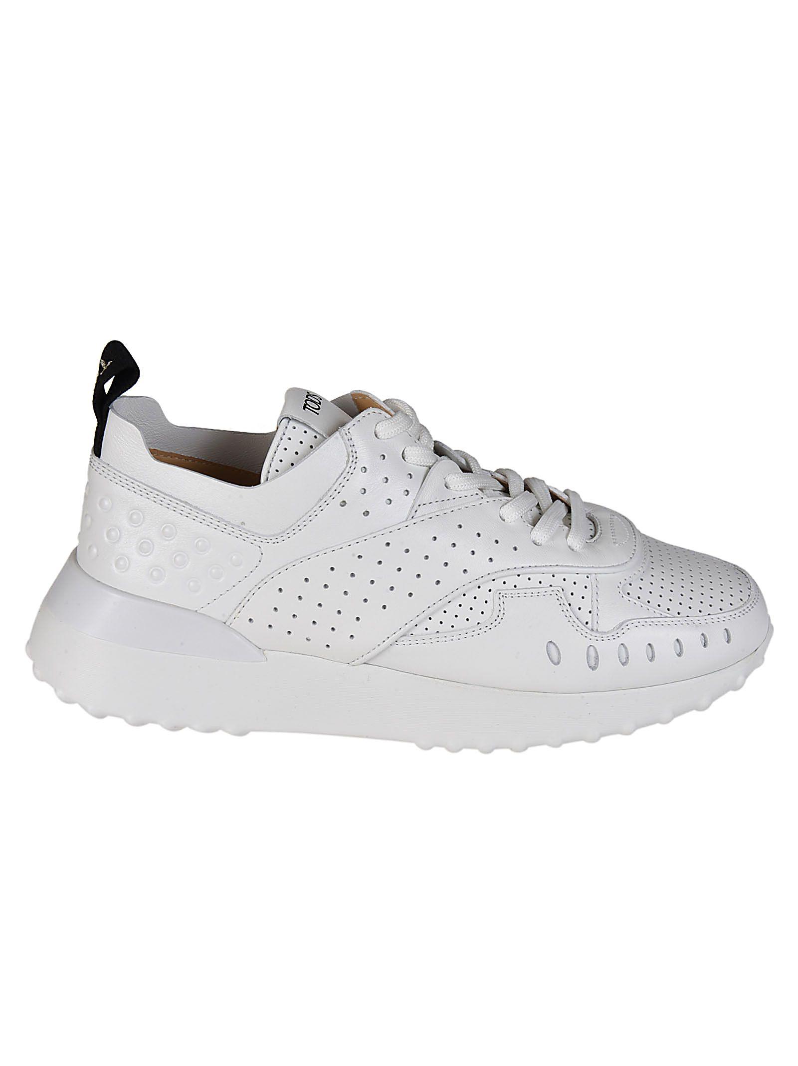 Perforées Chaussures De Sport À Faible Haut Tod - Blanc RHS8TLnS2