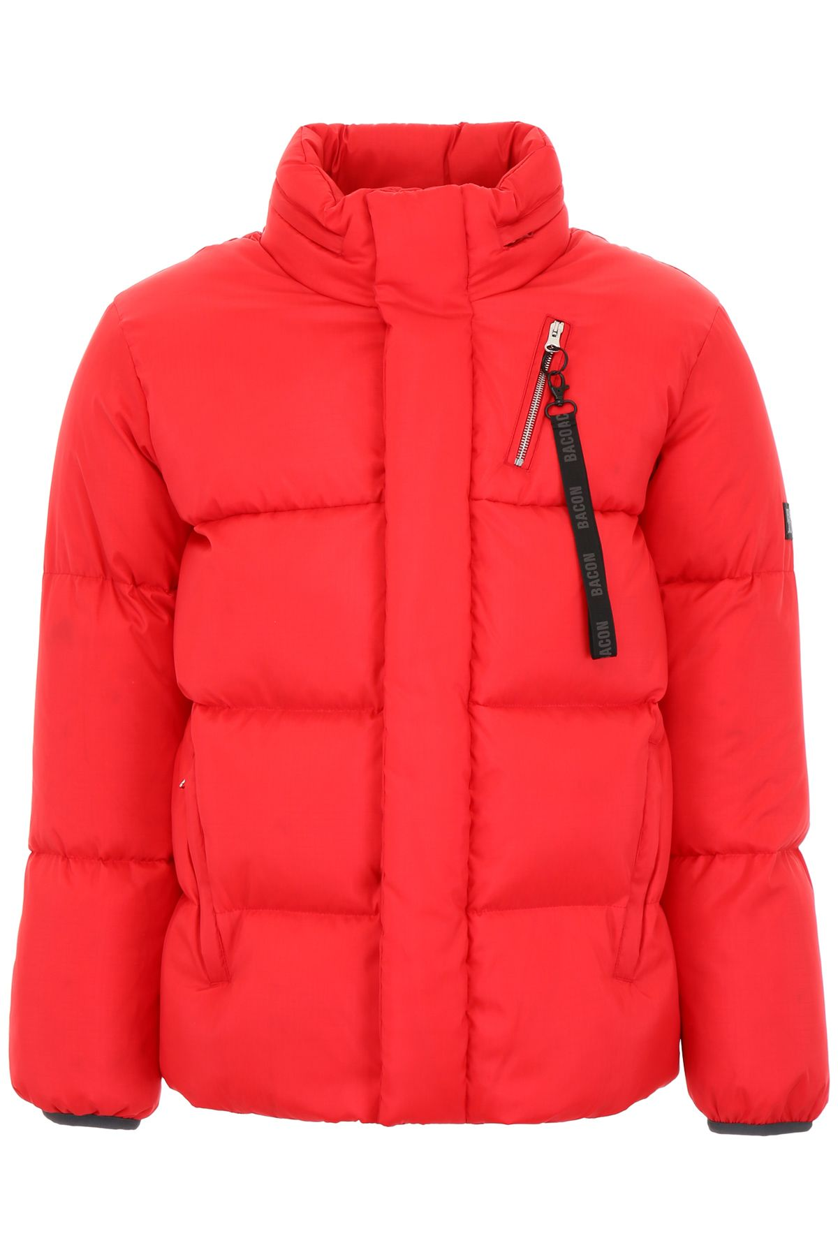 BACON CLOTHING Big Boo Puffer Jacket in Red