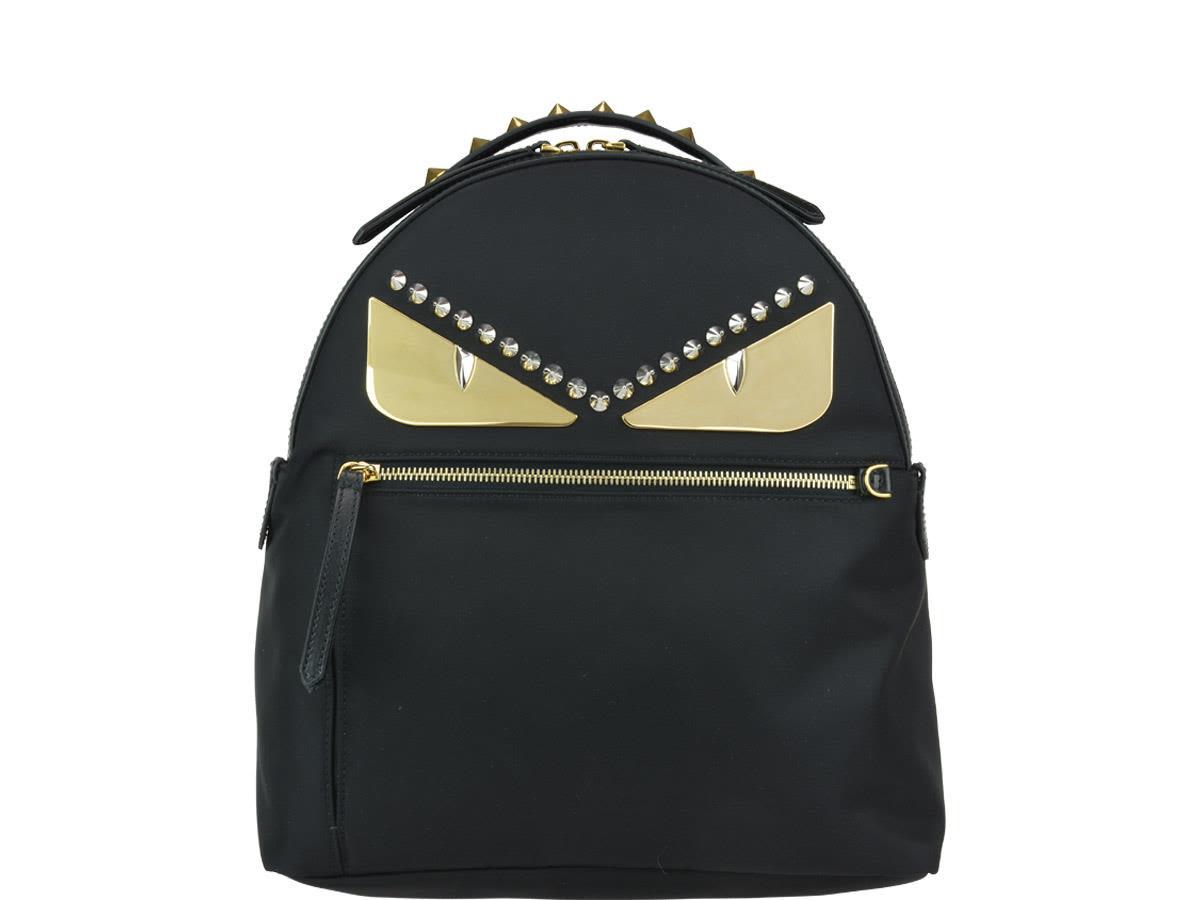 Fendi Bag Bugs Backpack In Black Gold  f98b513ed5d6d