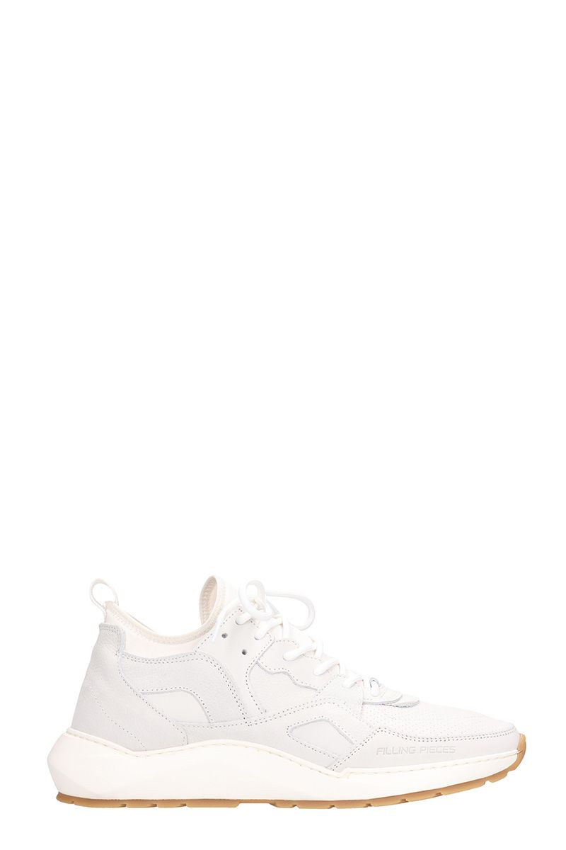 filling pieces -  Original Low White Leather And Suede Sneakers