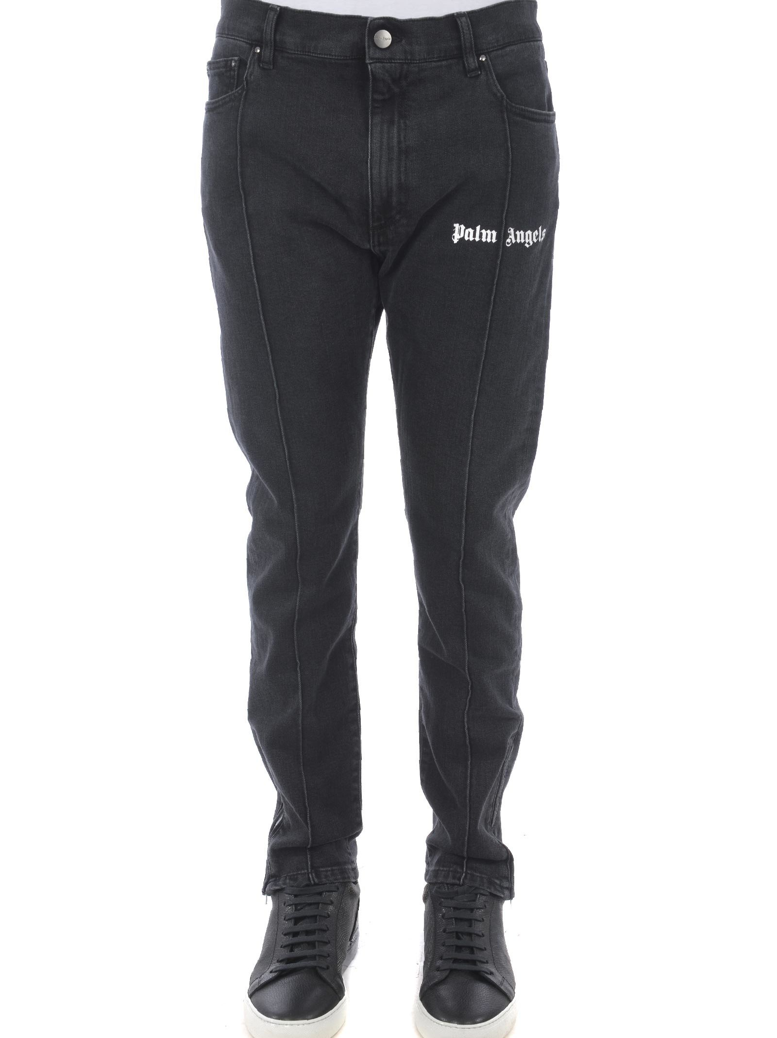 Palm Angels Logo Embroidered Jeans