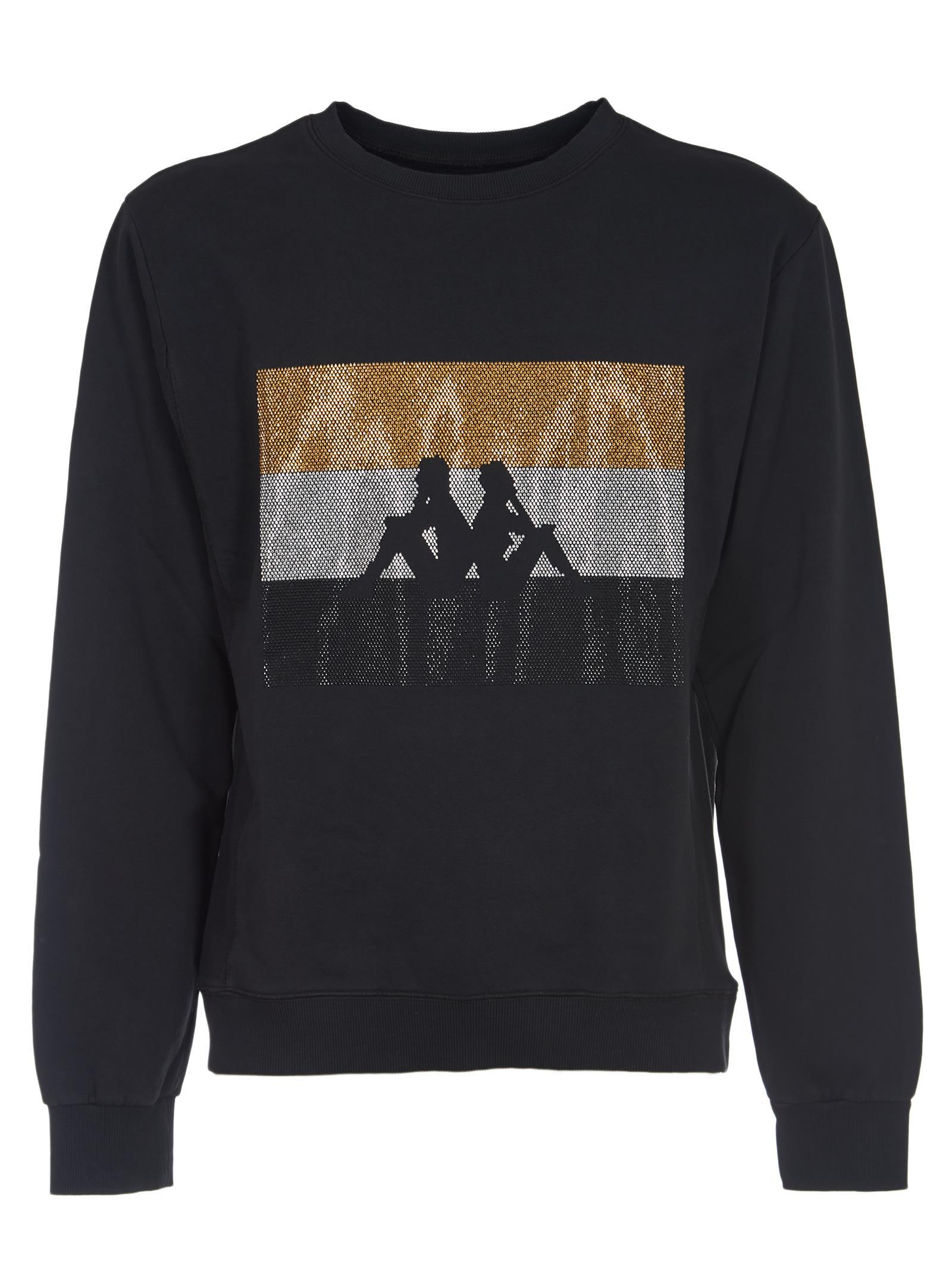 DANILO PAURA Logo Sweatshirt in Black