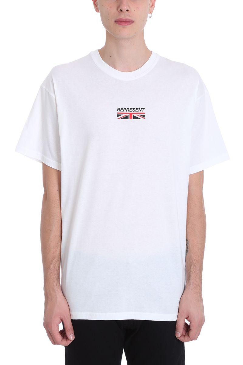 Represent WHITE COTTON T-SHIRT