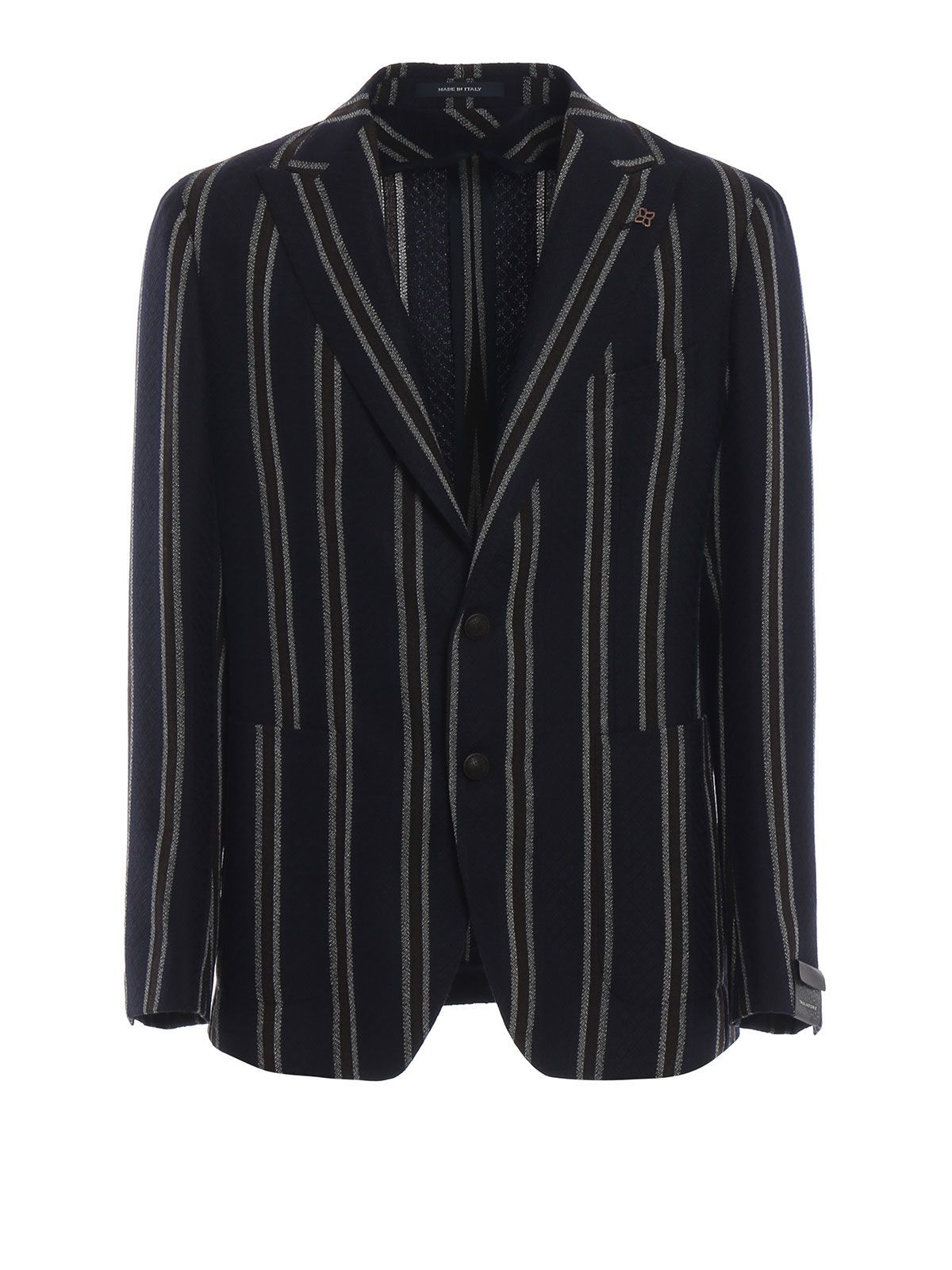 TAGLIATORE Striped Blazer in Blue