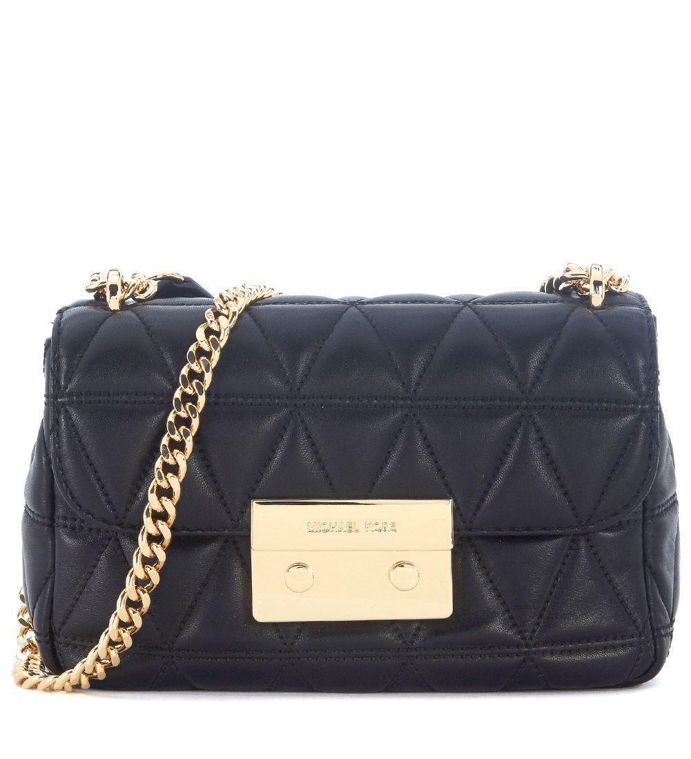 Michael Kors Sloan Black Quilted Leather Shoulder Bag