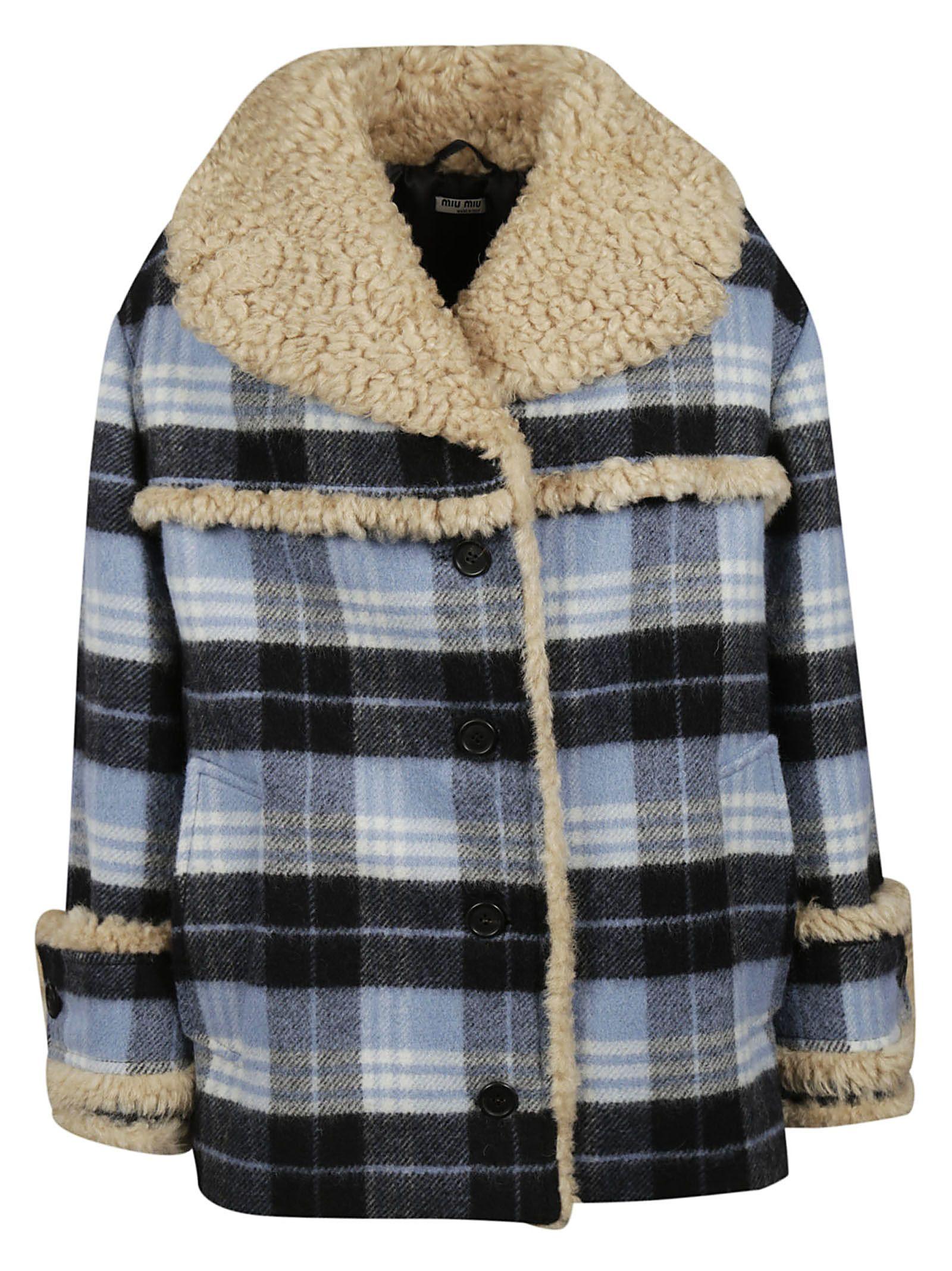 miu miu -  Oversized Printed Fur Jacket