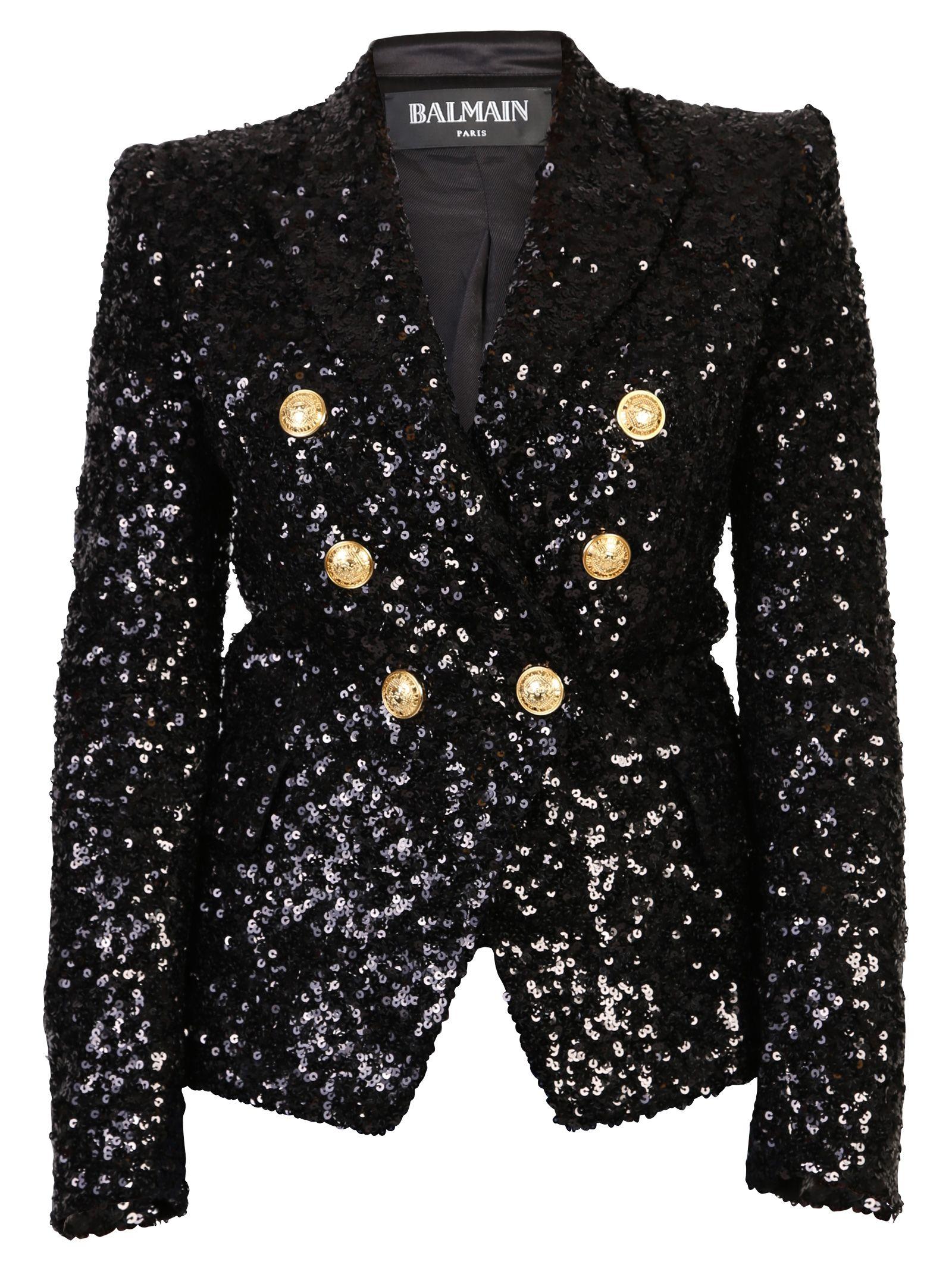 Black Sequinned Blazer